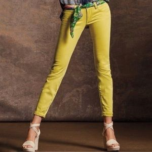 Cabi #5092 Citron Yellow Curvy Fit Skinny Jeans 8